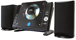 Coby CXCD380  Micro CD Player Stereo System with PLL AM/FM Tuner (Black)