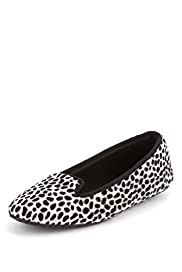 Animal Print Slip-On Ballerina Slippers