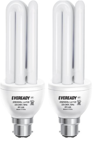 Eveready ELT 20W CFL Bulbs (White and Pack of 2) Image