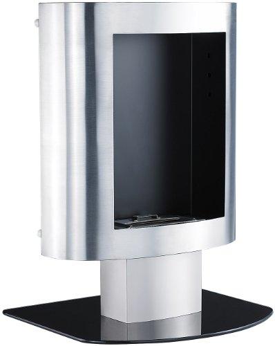 Carlo Milano - Chimenea decorativa de bioetanol (acero inoxidable, se puede acoplar a la pared o colocar de pie)