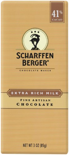 Scharffen Berger Chocolate Bar, Milk Chocolate (41% Cacao), 3-Ounce Packages (Pack of 6)