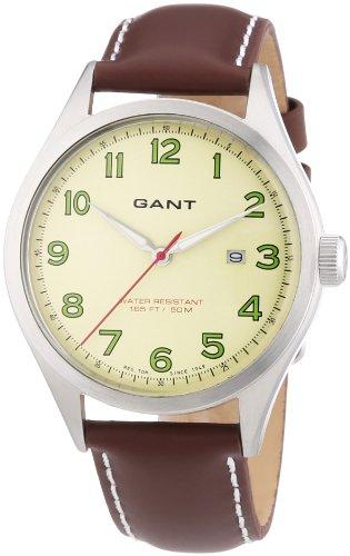GANT W70461 - Orologio da polso uomo, pelle, colore: marrone