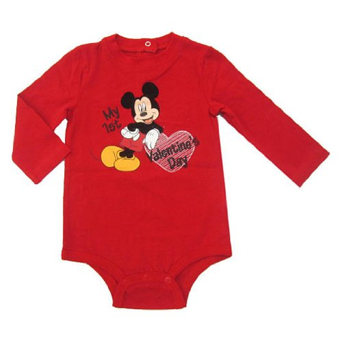 Disney Mickey Mouse My First Valentine's Day Baby Bodysuit Dress Up Outfit