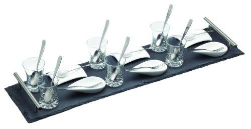 Kitchen Craft Service 25 pièces et ardoise pour amuses-bouches