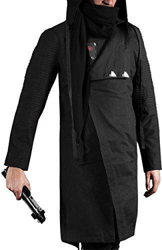 Musterbrand Star Wars Cappotto con cappuccio Uomo Sith Lord Long Cotton Jacket Nero L