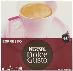 Nescafé Dolce Gusto Espresso 16 Capsules (Pack of 3, 48 coffee pods, 48 servings)