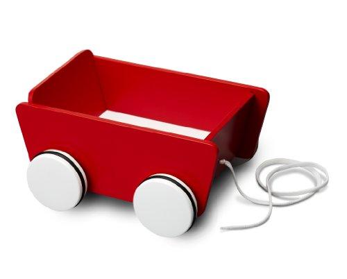 Micki 10.2131.00  - Carrito con ruedas y correa de madera color rojo