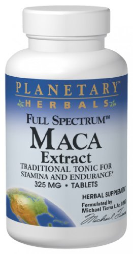 Planetary Herbals Full Spectrum Maca Extract, 325 Mg, Tablets , 60 Tablets (Pack Of 2)