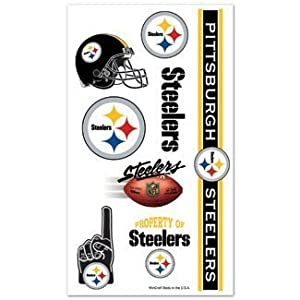 Pittsburgh Steelers Temporary Body Tattoos 3 Pack
