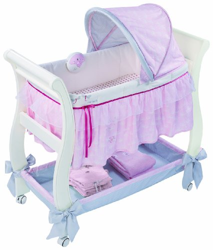 New Summer Infant Carter's Classic Comfort Wood Bassinet, Pink/White