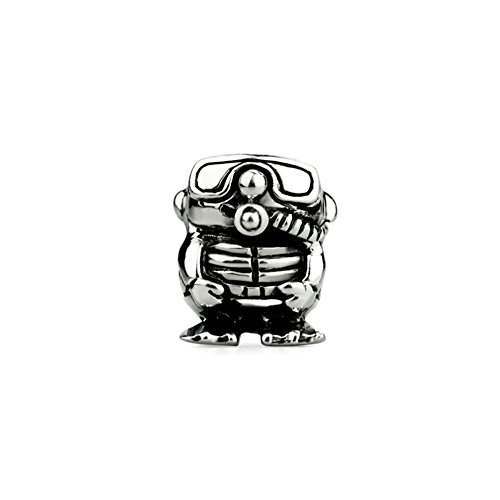 Ohm Beads Sterling Silver Scuba Bead Charm