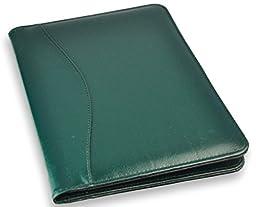 Royce Leather Top Grain Nappa Leather Jr. Writing Padfolio (Green)