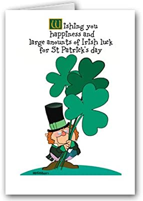 Clovers Cute St. Patrick's Day Card Set - 12 Cards/13 Envelopes