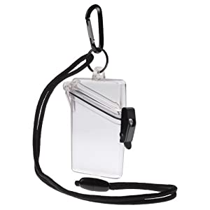 WITZ See it Safe Waterproof ID/Badge Holder Case, Clear
