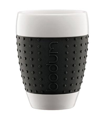 Bodum Set Taza De Café 2 Uds. Pavina 0.4 L Negro/Blanco