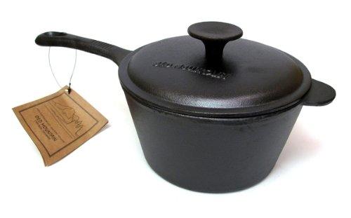 IWGAC 0166-10164 Old Mountain Cast Iron 2 qt Sauce Pan w Lid (Cast Iron Sauce Pans compare prices)