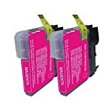 2 Magenta Compatible Brother LC980M / LC1100M Printer Ink Cartridges for Brother DCP-145C DCP-163C DCP-165C DCP-167C DCP-195C DCP-197C DCP-365CN DCP-373CW DCP-375CW DCP-377CW / MFC-250C MFC-255CW MFC-290C MFC-295CN MFC-297C MFC-490CN MFC-490CW MFC-5490CN