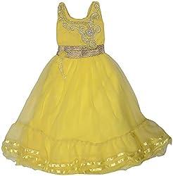 GOWRI MARKETING Girls' Regular Fit Dress (AM00014_3-4 Years, Yellow )