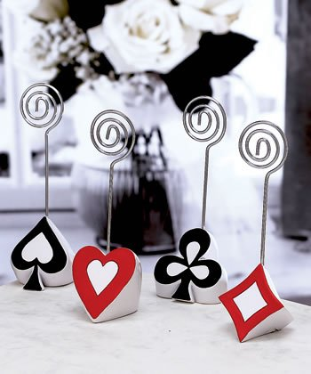 Las Vegas Theme Wedding Place Card Holders, 40