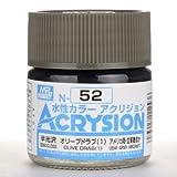 【水性アクリル樹脂塗料】新水性カラー アクリジョン オリーブドラブ(1) N52