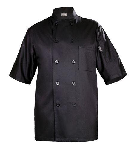 Chef Works BLSS Chambery Short Sleeve Basic Chef Coat, Black, Large Reviews