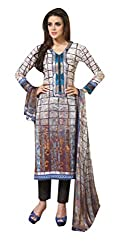 TEXCLUSIVE WOMEN'S PURE LAWN COTTON STRAIGHT FIT SEMI-STITCHED DRESS MATERIAL