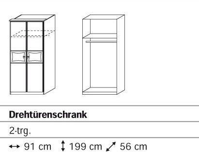 Rauch Kate Drehtürenschrank mit 2 Türen und Motivdruck in alpinweiss – rosa online bestellen