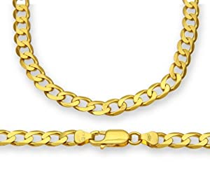ChainCo 9ct Yellow Gold 22g Curb Necklace of 56 cm/22 Inch Length and 6.2mm Width