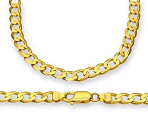 Citerna 9ct Yellow Gold 22g Curb Necklace of 56 cm/22 Inch Length and 6.2mm Width