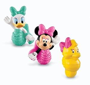 (礼物)Fisher-Price Disney's Minnie and Friends费雪迪斯尼洗澡喷水玩具3件套$10.26