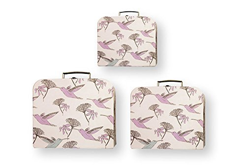 Milkbarn Storage Suitcases, Set of 3 (Hummingbird) - 1
