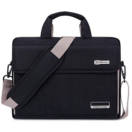 Brinch Unisex Oxford Laptop Sleeve Messenger Shoulder Bag for 15 - 15.6-Inch