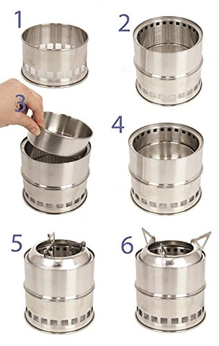 Wealers Stainless Steel Lightweight Wood or Alcohol