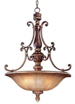 177 4 Light Small Bowl Large Pendant Light Fixture, Illuminati Bronze