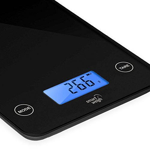 Smart weigh digital glass top kitchen and food scale 5 for Best smart kitchen scale