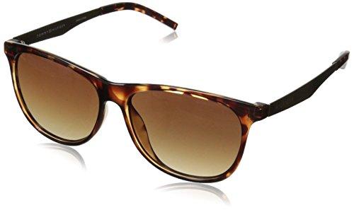 Tommy Hilfiger Women'S Ths Lad166 Wayfarer Sunglasses, Tortoise, 56 Mm