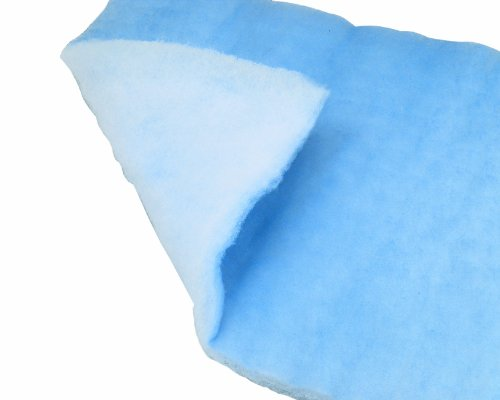 "Filtration Group 11745 Air Filter Media Pad, VL-05 PST, Spray-Bonded High-Lofted Polyester Media, Blue/White, 7 MERV, 15"" Height x 20"" Width x 1/2"" Depth (Case of 50)"