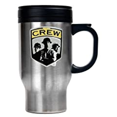 MLS Columbus Crew 16 Ounce Stainless ST-Shirtl Travel Mug (Primary Team Logo) by Great American Products