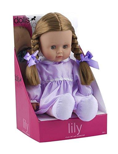 Dolls World - Lilly - Poupée avec Corps Souple 41 cm - Modèle Aléatoire