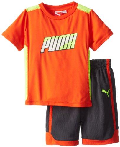 Puma Little Boys' Toddler Formstrip Perf Set, Intense Orange, 2T