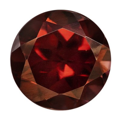 0.85 Cts of 5 mm AAA Round Natural Red Zircon