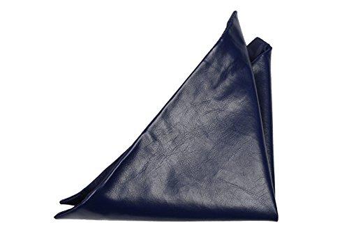 Notch Men'S Leather Handkerchief Hart Solid Navy