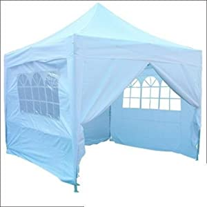 Quictent 10'x10' White Heavy Duty Pyramid-roofed Pop Up Party Wedding Canopy Tent Gazebo