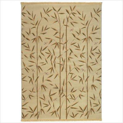Raymond Waites Bamboo Garden Light Camel Contemporary Rug Size: 8' x 11'
