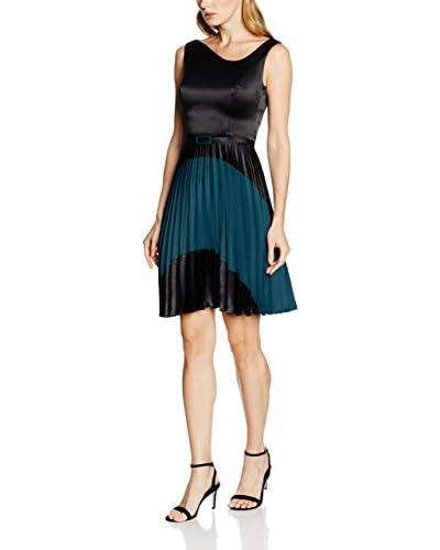 RIVIVI 6269 Kleid schwarz/türkisgrün