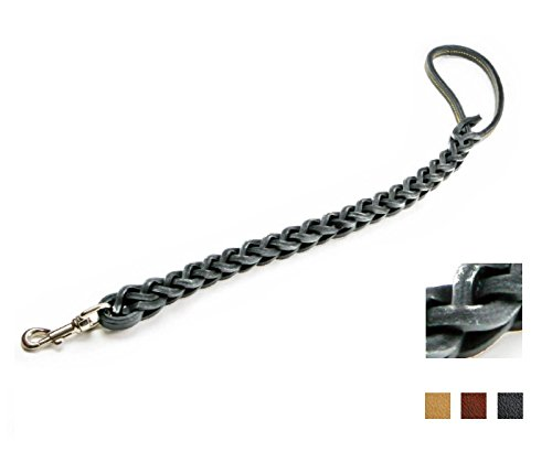 Eurocuoio-Guinzaglio-in-cuoio-a-tripla-treccia-Con-moschettone-lungo-750-mm-disponibile-in-tre-colorazioni