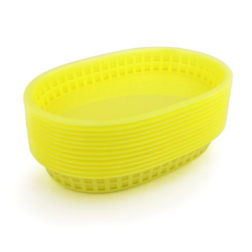 New Star 44096 Restaurant Quality Fast Food Baskets, 10.5 By 7-Inch, Yellow, Set Of 36