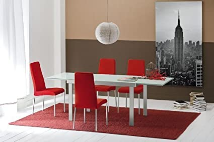 Table Extensible Matrix O&G Verre Blanc Opale