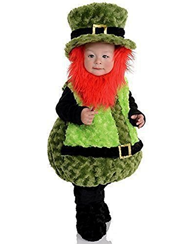 [Underwraps Belly Babies Lil' Leprechaun Plush Costume Baby Toddler Child Size] (Toddler Lil Ninja Costumes)