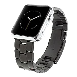 Premium Stainless Steel Watch Strap Band Classic Buckle For Apple Watch 42mm -Black